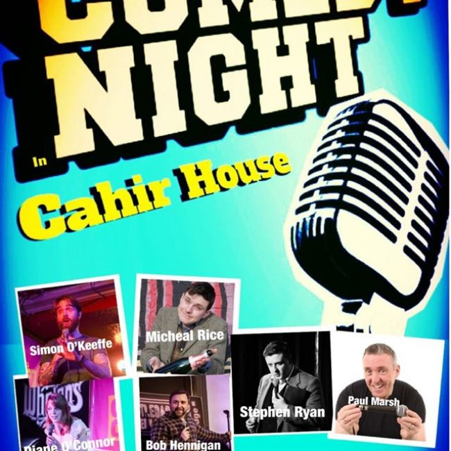 Comedy Night At Cahir House Hotel